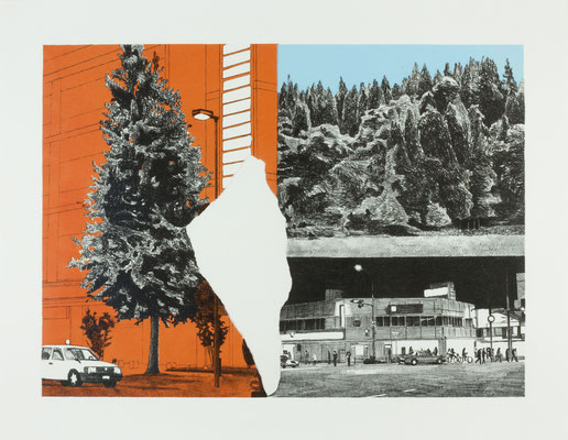 PAGE#7_街路樹 2016 395×540mm 紙にリトグラフ ed.4