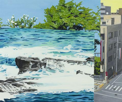 PAGE_海をみる / 2017 / 726×606mm / 油絵の具、キャンバス