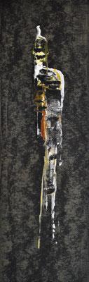 Der Nächtliche ___ Acryl auf Karton 2009 23x8cm