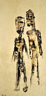Zwei ___ Acryl auf Karton 2011 32x15cm