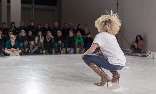 """Massacre - Variations on a Theme"" by Alexandra Bachzetsis, Live Arts Week, Ex GAM Bologna, photo by Luca Ghedini"