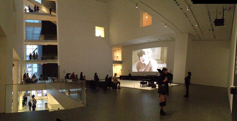 """Video installation for """"Massacre - Variations on a Theme"""" by Alexandra Bachzetsis in coll. with Glen Fogel, Museum of Modern Art, New York"""