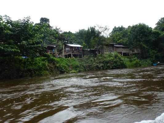 Paysage vue d'une fleuve