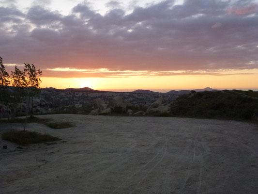 Coucher de soleil sur la Cappadoce