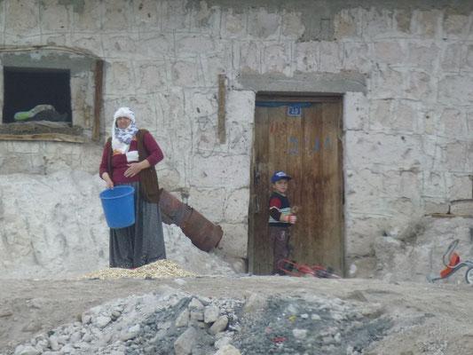Scène de vie dans les villages à quelques dizaines de km du site touristique de la Cappadoce