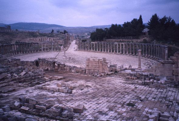 Jerash : cité antique greco romaine, à 50 km d'Amman