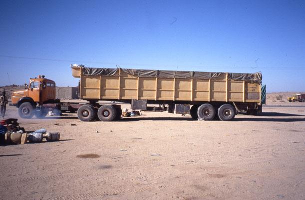 Mon véhicule dans lequel je vais traverser le Sahara