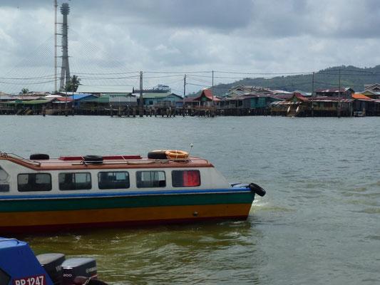 Partie de Brunei sur pilotis
