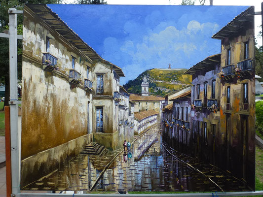 Une petite folie. A Quito, avant mon départ, je ne résiste pas devant ce magnifique tableau de 1 m X 0,80 m