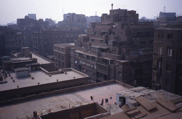 Vue de mon hôtel au Caire