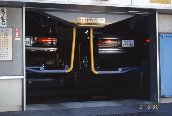 Garage de voiture ascenseur