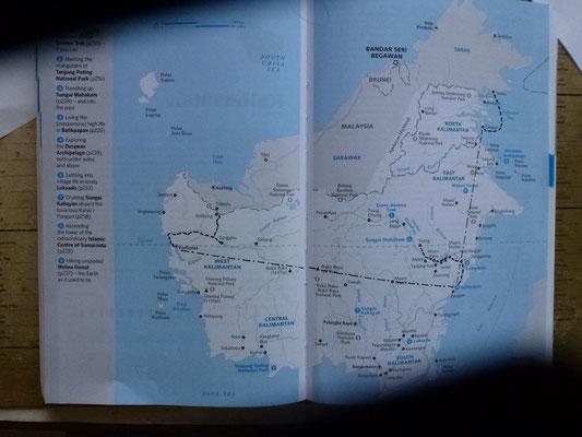 Mon itinéraire dans la partie Indonésiènne