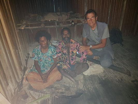 Avec les parents de mon hôte