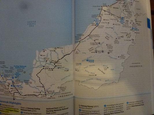 Itinéraire dans la partie ouest (malaisie)
