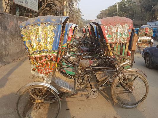Rickshaw haut en couleur