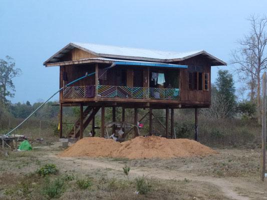 La maison sur pilotis où j'ai dormi