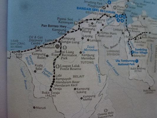 Mon parcourt à Brunei