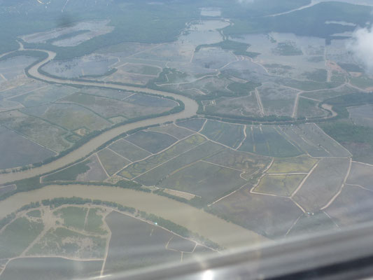 Paysage vu d'avion
