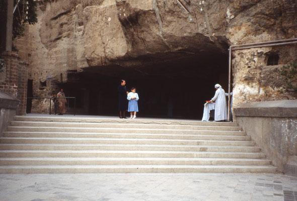 Grotte où Marie et Joseph se sont réfugiés pour fuir le massacre des nouveaux nés par le roi Hérode