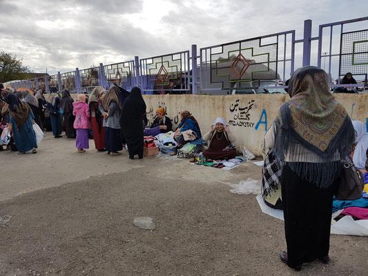 Sur un marché près du Turkménistan