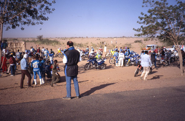 Le groupe de motards au départ