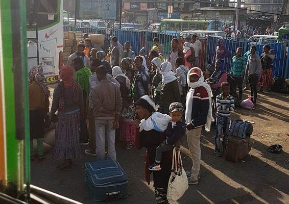 Sur un marché à Addis Abeba