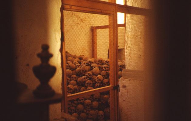 Amoncellement de crânes près de Ste Catherine (Sinaï)