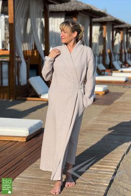 Bio Sommerbademantel leicht und luftig lang elegant schön Bademantel Maßgefertigt