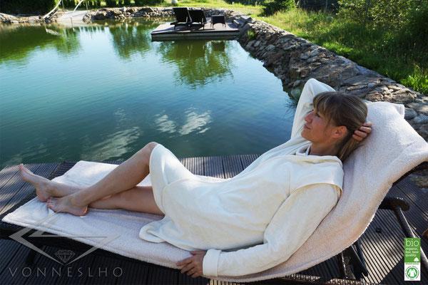 Hotel Bademantel für Wellness und Spa Biobademantel Saunakilt kurz