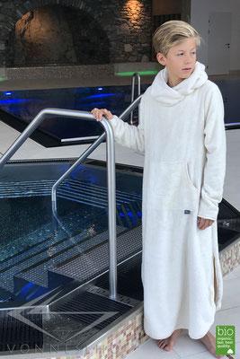 Bio Kinderbademantel mit Kapuze sehr kuschlig weich und warm