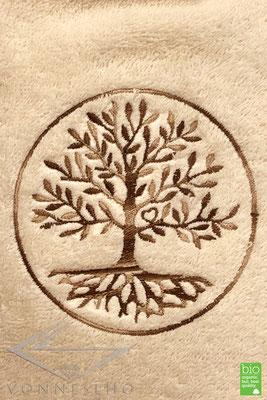 Wärmflasche Bio Baumwollbezug Baum des Lebens, Blume des Lebens Bio Frottee Bio Frottier