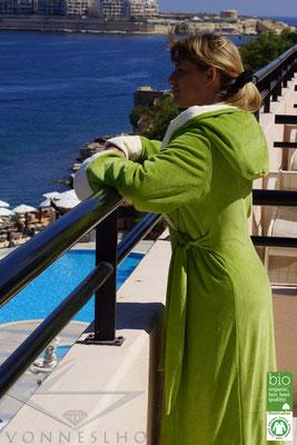 Spa luxus Bademantel kuschelig weich extra lang mit Kapuze