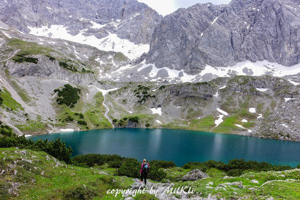 Klettersteig Tajakante : Tajakante klettersteig d e und 1 vorderer tajakopf 2450m