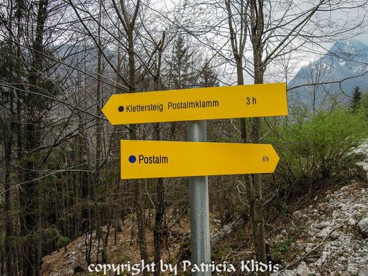 Klettersteig Postalmklamm : Postalmklamm klettersteig d f postalm m salzkammergut