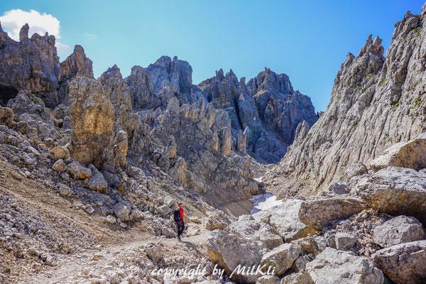 Klettersteig Dolomiten : Latemartürme klettersteig c m dolomiten