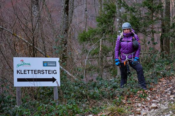 Klettersteig Grade : Neujahrestag völlig alleine am klettersteig in trattenbach