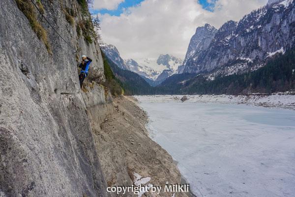 Laserer Alpin Klettersteig : Laserer alpin klettersteig c lärchkogel 1231m dachsteingebirge