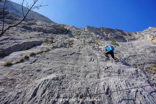 Klettersteig Gardasee : Ernesto che guevara klettersteig c und 1 monte casale 1632m
