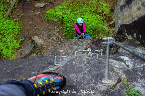 Klettersteig Nasenwand : Nasenwand klettersteig e nase 1310m zillertaler alpen