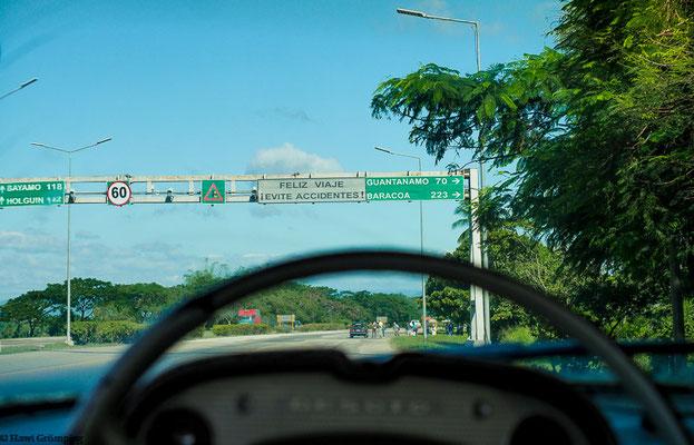 Aufbruch von Santiago de Cuba zur letzten Reiseetappe.