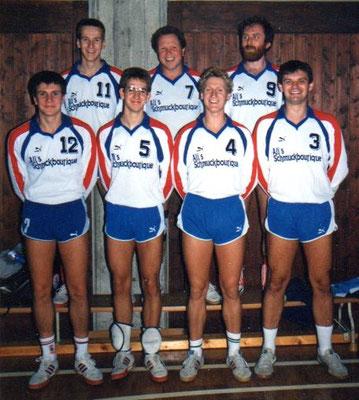 Thomas Schuett noch als Spieler: Spieltag 1981/82 im Leopoldinum, u.a. mit Thomas Jablonski, Jürgen Ferazin, Klaus Fettig, Richard Kitzinger