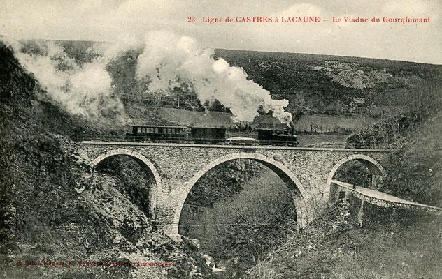 Tarn-105 : Près de Lacaune-les-Bains. Viaduc du Gourcqfumant. Locomotive 130T