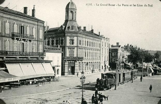 Tarn-135 : Albi - Le Grand Bazar, la Poste et les Lices du Sud. Locomotive 130T
