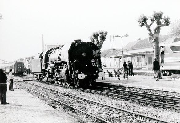 Paray-le-Monial-002. Locomotive 141 R 1187. Date et auteur du cliché inconnus
