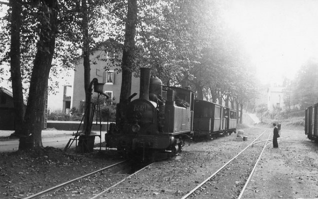 Tarn-080 : Pierre-Ségade. 27 juin 1953. Locomotive 130T n°11. Cliché Jacques Bazin