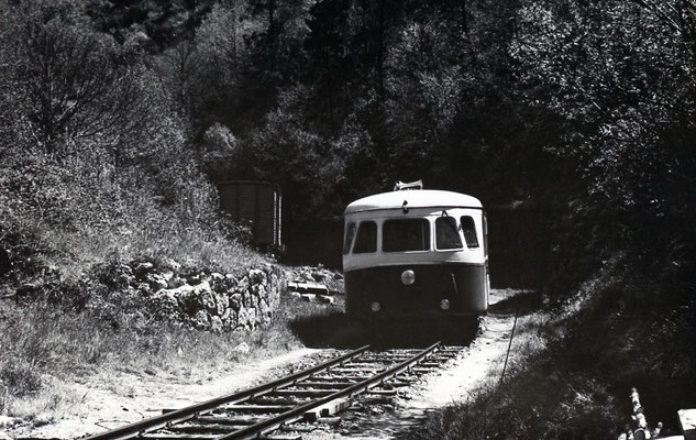 Tarn-059 : Le Bouissas. 2 mai 1958. Autorail Billard A80D. Cliché Jacques Bazin