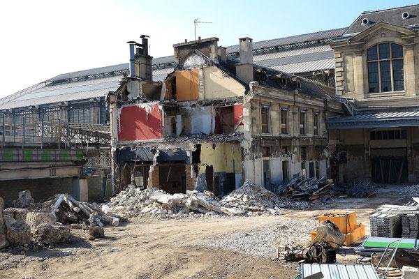 Paris-Austerlitz-9 mars 2012. Travaux de démolition de l'ancien buffet. Cliché Pierre Bazin