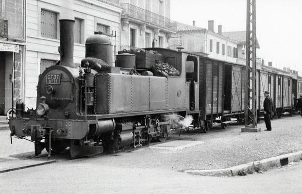 Tarn-032 : Castres-Gare. 27 juin 1953. Locomotive 130T n°11 Cliché Jacques Bazin
