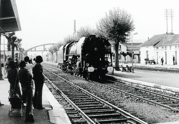 Pray-le-Monial-005. Locomotive 141 R 1187. Date et auteur du cliché inconnus