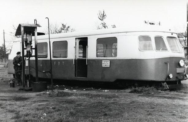 Tarn-021. Castres-Dépôt. Décembre 1962. Autorail Billard A80D. Cliché Rose Salvaire